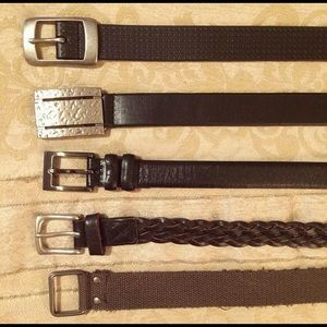 5/$25 Assorted fashion belts for boys
